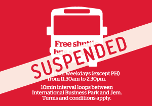 Free Shuttle Bus Services Suspended
